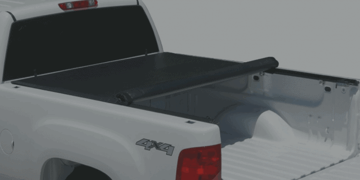 Tonno Pro LR-3045 Lo-Roll Black Roll-Up Truck Tonneau Cover